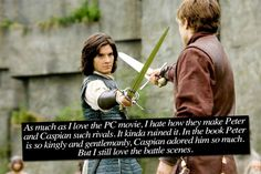 Narnia Confessions  In my,they dont potrait peter's really well in prince caspian.