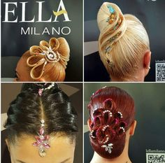 Dance Hairstyles, Retro Hairstyles, Celebrity Hairstyles, Wedding Hairstyles, Blonde Hair Designs, Ballroom Dance Hair, Bleached Hair Repair, Competition Hair, Eyebrow Shapes