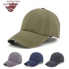 Hot Sale Men's Baseball Caps Trucker Solid Color Simple Adult Cap Polo Male Hat Outdoor Sun Hat Brand  Bone Snapback Caps