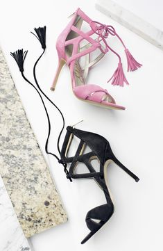 Chic tassels and cool cutouts make these sandals standout.
