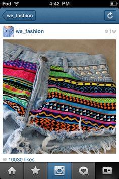 tiki shorts DIY