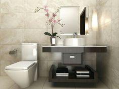 How much does a bathroom renovation cost? Modern Bathroom Design, Bathroom Interior, Bathroom Toilets, Small Bathroom, Bathroom Inspiration, Home Decor Inspiration, Powder Room Design, Toilet Design, Beautiful Bathrooms