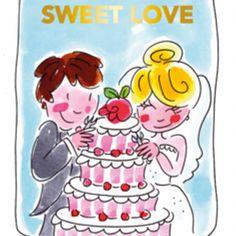 Blond Amsterdam thee kaart Sweet love