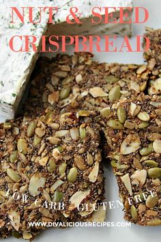 A delicious crispbread recipe that is full of nuts and seeds. A much healthier alternative to store bought ones too! #lowcarbrecipe