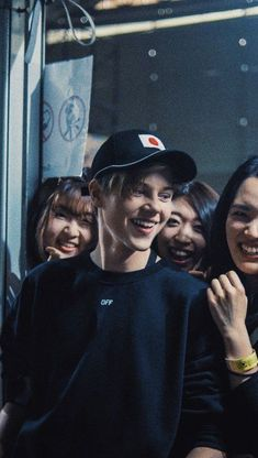he looks so happy with his fans what a cutie