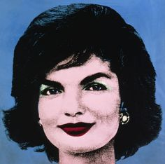 Early Colored Jackie: 1964 by Andy Warhol - Silkscreen ink on synthetic polymer paint on canvas (Wadsworth Atheneum, Hartford, CT) Pop Art Roy Lichtenstein, Jasper Johns, Robert Rauschenberg, Jackie Kennedy, Jaqueline Kennedy, Dali, Pop Art Andy Warhol, Pittsburgh, Richard Hamilton