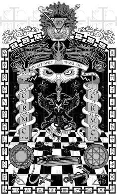 "Imagery: Pyramid, One eye symbolism, checkerboard pattern (freemason), columns, Owl Eyes (Bohemian Grove, Moloch worship = Ba'al / Satan worship), ""What Wilt Thou Do"" Aliestar Crowley Satanist saying, etc etc etc"