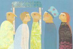 """Arianna Papini illustration for """"I vestiti nuovi dell'imperatore""""."""