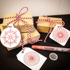 Sensational Patterns: 11 Spirograph Crafts for Grown Ups - The Perfect DIY Paper Christmas Decorations, Christmas Angel Ornaments, Christmas Gift Wrapping, Christmas Presents, Diy Arts And Crafts, Crafts For Kids, Paper Crafts, Diy Crafts, Handmade Thank You Cards