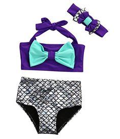 ae5bcc58f63 2017 New Arrival US Summer Stock Toddler Girl Kid Purple Mermaid Swimsuit  Swimwear Bathing Suit Bikini Set