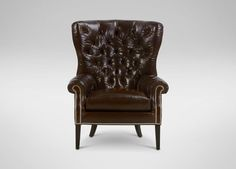 Rhodes Leather Chair - Ethan Allen. Goes with the gray sofa.