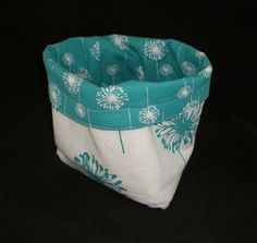 Warm Your Buns Insulated Fabric Bread Basket in by BsSwellStuff