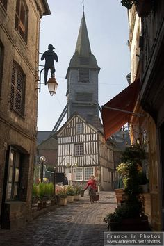 Narrow street in Honfleur