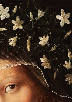 Traveling through history of Art...Saint Catherine, detail, by Bartolomeo Veneto, ca. 1520, Glasgow Museums Resource Centre.