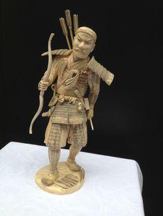 Ivoren Samurai Krijger - Japan - 19e eeuw