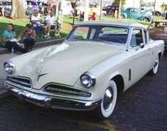 1953 Studebaker. Low-slung, fluid lines designed by Raymond Loewy. Arguably one of the best-looking cars to come out of the Fifties.