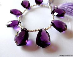 REDUCED  AAA grade Purple Quartz Faceted Fancy by CraftyMothers, $11.85