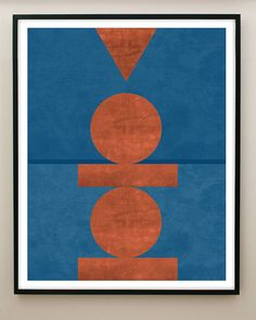 Minimalist Geometric shapes with subtle textures form primal composition with an orange and blue palette. Note: The white border is part of the print. If youd prefer it without the border, you can add a note to your order. Framed Art, Framed Prints, Blue Palette, Desert Art, Blue Art, Antique Prints, Minimalist Art, Geometric Shapes, Fine Art Paper