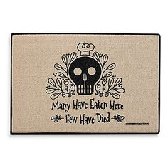 The humorous Many Have Eaten Here Door Mat lets visitors know it's…