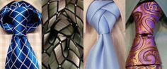 30 Different Ways to Tie a Tie That Every Man Should Know--I love these. Learn to do these AND surprise your guy. ♥♥♥ Take note of the light blue tie. Isn't that neat??