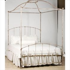 Armorel Cottage Iron Canopy Bed in Choice of Finish from PoshTots