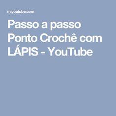 Passo a passo Ponto Crochê com LÁPIS - YouTube