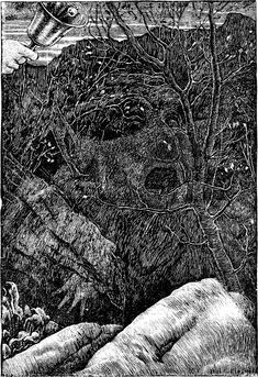 Henry Holiday's illustration to the chapter The Vanishing in Lewis Carroll's The Hunting of the Snark Thomas Cranmer's Burning – The Hunting of the Snark Unusual Art, Unique Art, Illustrations, Book Illustration, Thomas Cranmer, Hunting Party, The Vanishing, Rene Magritte, Sigmund Freud