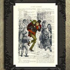 a christmas carol tiny tim altered art print by MadameMemento, $7.99