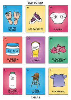 Baby Loteria Baby Lottery Baby Bingo Baby Shower By Carrascography, $35.00