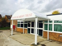 Marish Primary School had a Welford Dome installed with signage of the schools name to smarten up the front of their building.