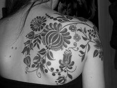 Hungarian folk art tattoo - http://99tattoodesigns.com/hungarian-folk-art-tattoo/