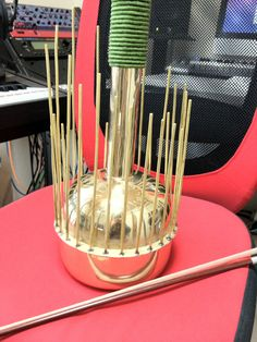 It is my Ocean Harp (aka Waterphone), the musical instrument what produces some kind of strange sounds.