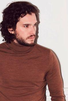 Kit Harington, John Snow, Men Sweater, Turtle Neck, Actors, Hair, Photography, Magazine, Beauty