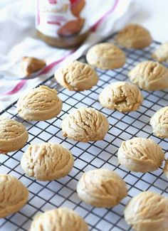 Biscoff Cloud Cookies...Super thick and soft cookies made from Biscoff Spread!