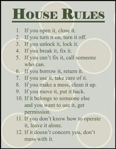 Indispensable Kid Rules Every Parent Should Follow House Rules.