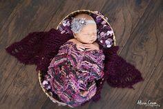 Baby Blankets Set Purple Pink Grey Set of Newborn #Photography Props by BabyBirdz - Baby Girl Newborn Photo