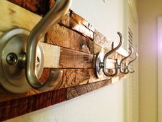 Rustic/Modern Coat Rack Beautiful Artistic Hanger by Palletso, $55.00