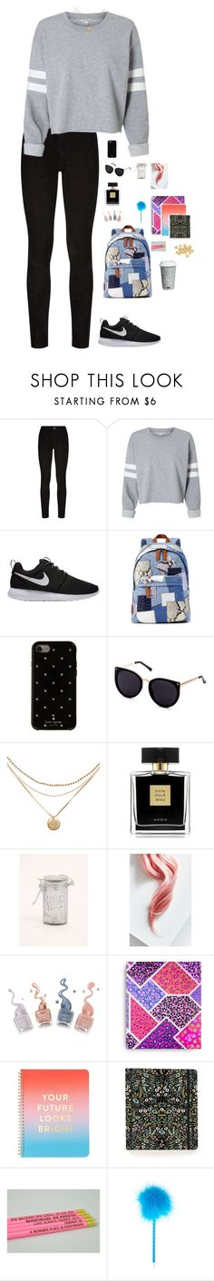 """""""Untitled #1790"""" by wallacehanna ❤ liked on Polyvore featuring Paige Denim, NIKE, Marc Jacobs, Kate Spade, Avon, Torrid, Lime Crime, Vera Bradley, ban.do and Rifle Paper Co"""