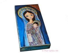 Nativity Star II with Wisw Men    Giclee print by FlorLarios, $35.00
