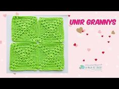 DOS FORMAS DE unir grannys -La Magia del Crochet- - YouTube Joining Crochet Squares, Crochet Granny, Knit Crochet, Oversize Knit Blanket, Knitted Blankets, Decoupage, Make It Yourself, Youtube, Knitting