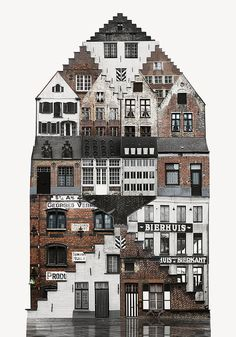 "3 . Each collage is comprised of layer upon layer of photographs shot in various European capitals. The series is titled ""Genius Loci"", which according to the Romans was a protective spirit of a dwelling, takes on a more contemporary meaning which refers to a location's distinctive atmosphere."
