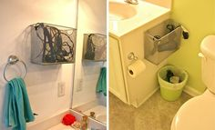 Great Idea: Office File Organizer for Bathroom Appliance Storage Green Dream DIY