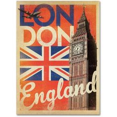 Trademark Fine Art London, England Canvas Art by Anderson Design Group, Size: 35 x 47, Multicolor