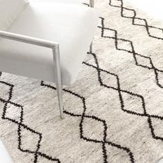 Dash & Albert | Zama Hand Knotted Rug | If you%27ve been looking for a lush, plush, treat for the feet, try our new Moroccan-inspired woven wool area rugs! Soft and dense with a subtle geometric pattern, these rugs are made for maximum comfort.