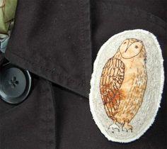Penguin & Fish: Artist: jenny mccabe of Yarn Soup  OWLS!