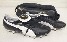 Puma King XL Black Leather Soccer Cleats US Mens 10.5 EU 44 NEW Fast Shipping