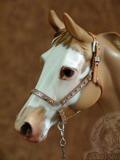 Hand Crafted Traditional Scale Model Horse Show Halter fits Breyer Peter Stone