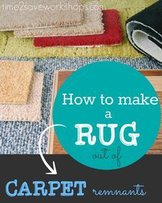 Frugal Tip: Make area rugs out of carpet to save hundreds of dollars! There are three ways to make a rug out of carpet remnants - see what's best for you. Basement Carpet, Room Carpet, Diy Carpet, Modern Carpet, Rugs On Carpet, Carpet Ideas, Cheap Carpet, Carpet Stairs, Plush Carpet