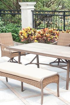 Create A Comfortable Oasis In Your Yard With The Palermo Dining Collection.  With Your Choice