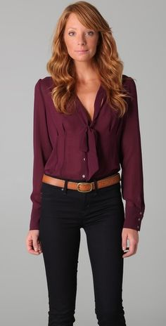 bow tie blouse, bow ties, fall professional outfits, fall outfits professional, tie neck blouse, chiffon blous, redhead, bow neck blouse, shirt